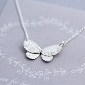 Butterfly Sterling Silver Name Necklace