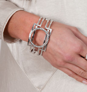 Art Deco Hinged Bangle - bracelets & bangles