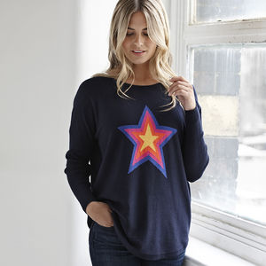 Star Jumper - women's fashion