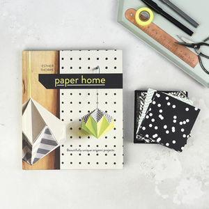 Origami Book And Monochome Paper Set