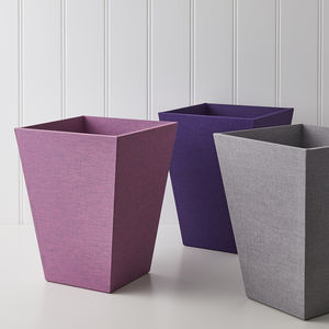 Luxury Waste Paper Bin In Linen