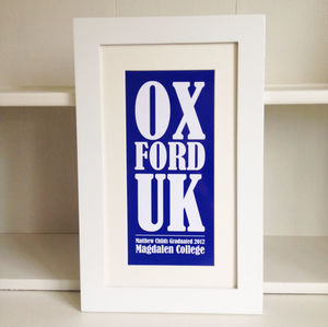 Personalised University Graduation Print