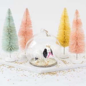 Personalised Spaniel Snow Globe Decoration - snow globes & ornaments