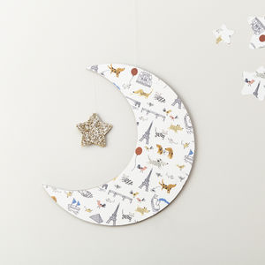 I Love Paris Moon Wall Hanging