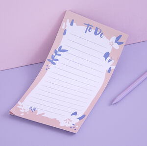 Pastel Pink Floral 'To Do' List Pad