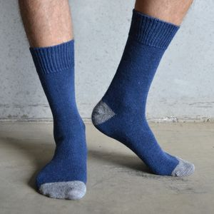 Alpaca Socks Heal And Toe Contrast - women's fashion