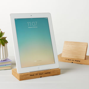 Mum's Personalised iPad Stand - for gadget-lovers