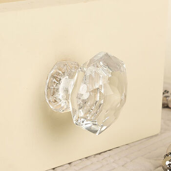 Contemporary Crystal Drawer Knob