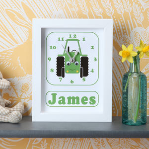 Personalised Framed Children's Clock - gifts for babies
