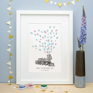 Choo Choo Train Fingerprint Keepsake
