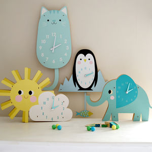 Children's Animal Clock - clocks