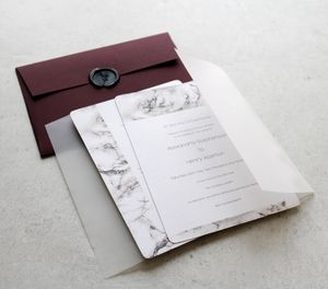 Urban Marble Wedding Collection - shoreline wedding trend