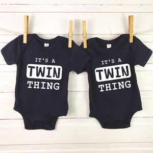 'It's A Twin Thing' Babygrow Set For Twins