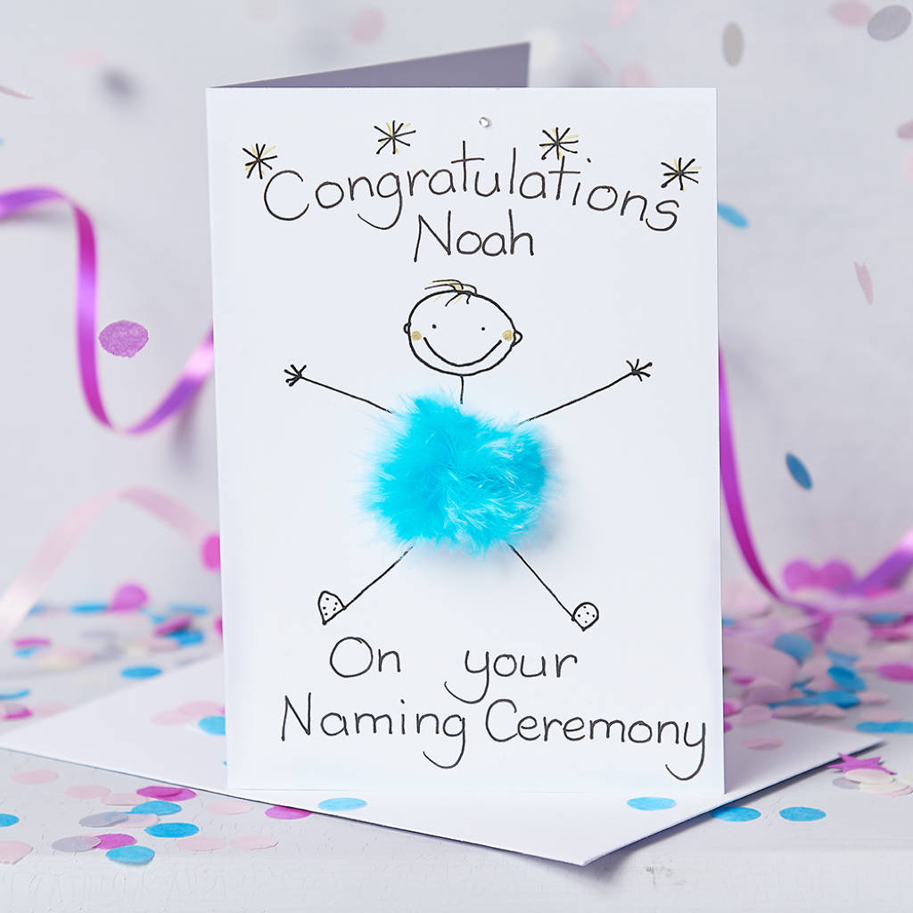 Handmade personalised naming ceremony card by all things brighton handmade personalised naming ceremony card m4hsunfo