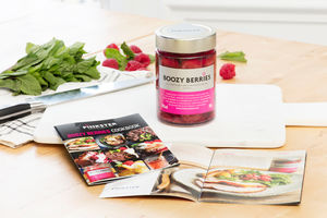 Gin Soaked Boozy Berries And Cookbook - shop by colour: pink
