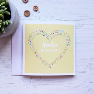 Personalised New Baby Card - new baby cards