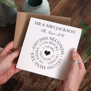 Anniversary Cotton Time Card