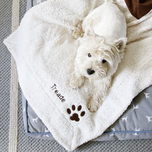Personalised Dog Blanket - pet lover
