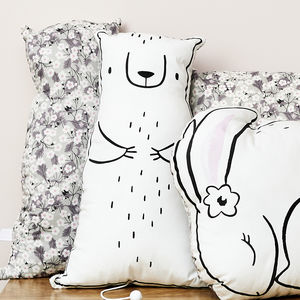Winter Polar Bear Music Box Cushion Liberty Mitsi - christmas home