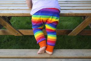 Unisex Rainbow Legs Harem Trousers - new in baby & child
