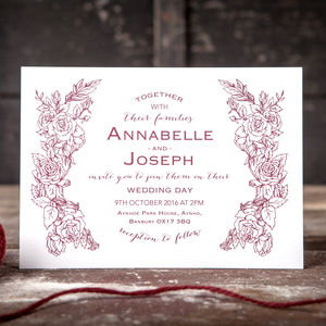 Botanical Blossom Wedding Invitation - wedding stationery