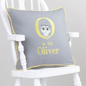 Personalised Alphabet 'Is For' Cushion - children's cushions
