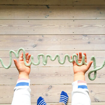 Mummy Knitted Wire Word