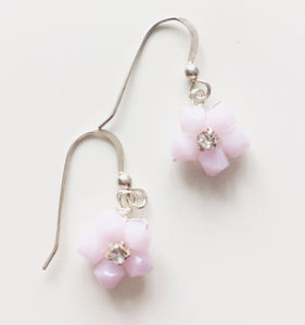 Pastel Floral Earrings - earrings