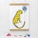 Personalised Leopard Balloon Print