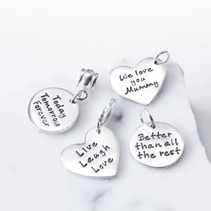 Silver Personalised Text Charms - charm jewellery