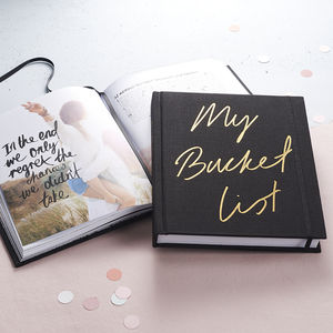 'My Bucket List' Journal - gifts for her