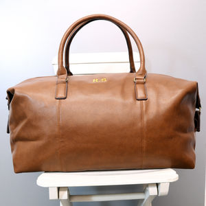 Personalised Vintage Weekend Holdall - luggage