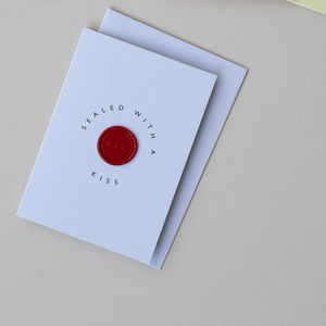 Sealed With A Kiss, Wax Seal Card