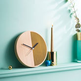 Half Wooden Wall Clock - home
