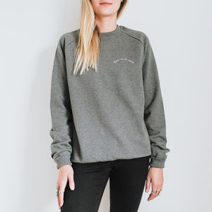 Born To Be Mild Embroidered Organic Cotton Jumper