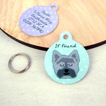 Cairn Terrier Personalised Dog ID Tag