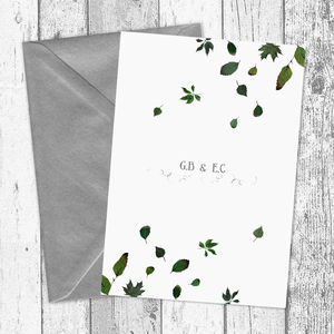Forest Leaves Personalised Wedding Invitations