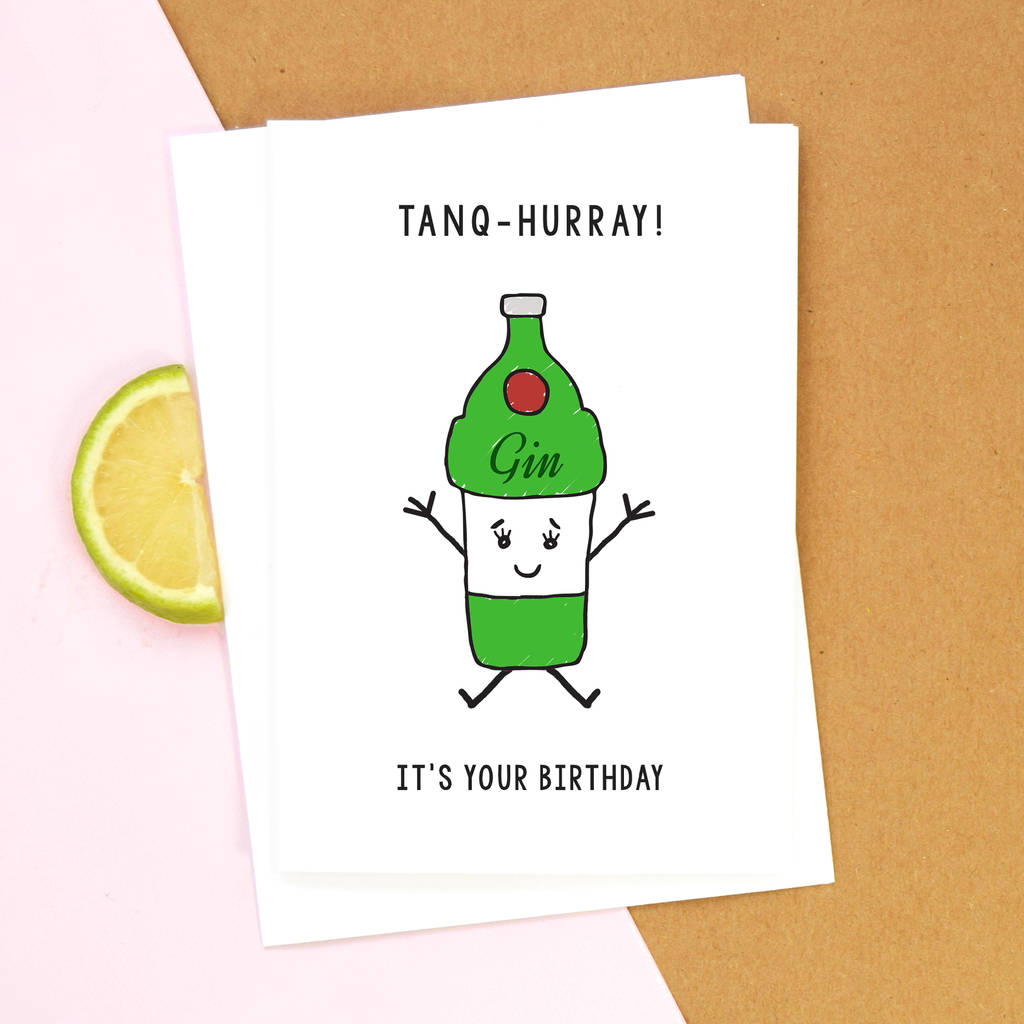 Funny Gin Birthday Card By Of Life & Lemons