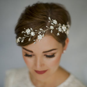 Bohemian Bridal Crystal Wedding Hair Vine Sydney - bridal hairpieces