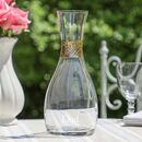 Elegant Personalised Tall Stemmed Gold Carafe
