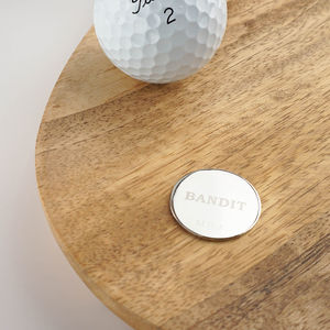 Bandit Personalised Golf Ball Marker