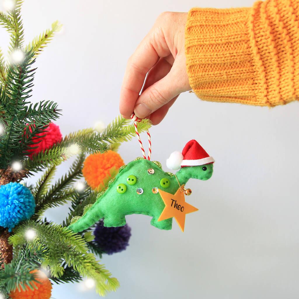 Christmas Dinosaur.Baby S First Christmas Dinosaur Tree Decoration