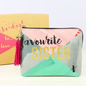 Ta Daa 'Favourite Sister' Pouch - winter sale