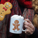 Gingerbread Man Mug With Hot Chocolate And Marshmallows