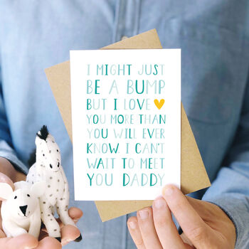 'From The Bump' Daddy Birthday Card