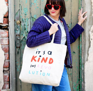 'It's A Kind Of Revolution' Canvas Tote Bag