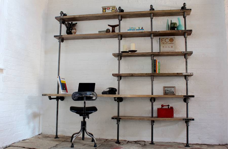 Brooks Curved Desk And Shelf Unit By Urban Grain