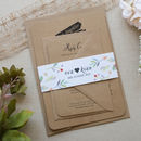 Forever Vintage Wedding Invitation with belly Band