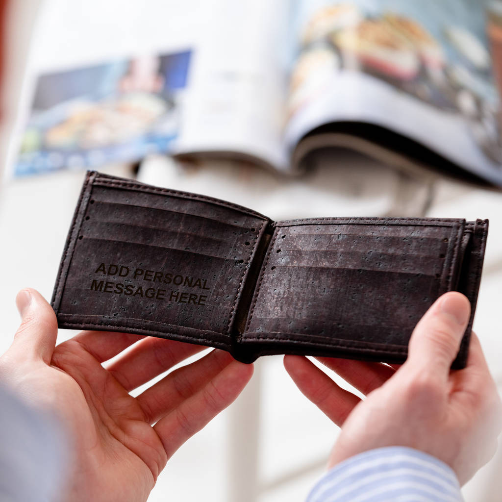 Personalised Wallets For Men Man Him