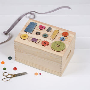 Personalised Sewing Storage Box For Her - interests & hobbies